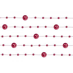 Girlandy perłowe, czerwony,...