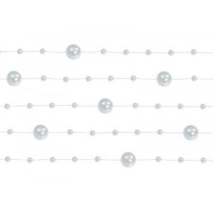 Girlandy perłowe, srebrny,...