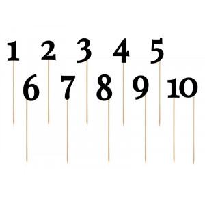 Numery na stół, czarny,...