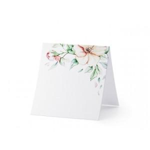 Wizytówki na stół - Kwiaty,...