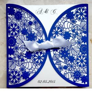Zaproszenie Niebieskie F1198b