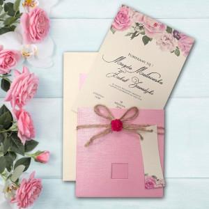 Zaproszenie Ślubne Różowe Z...