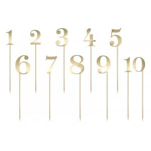 Numery na stół, złoty,...