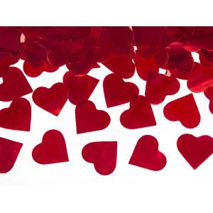 Tuba z sercami, czerwony, 60cm