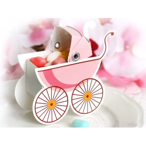 Pudełeczka Wózeczek, różowy...