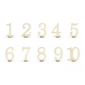 Drewniane numery na stół,...