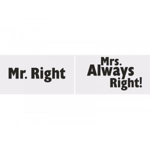 Tabliczki Mr. Right/Mrs....