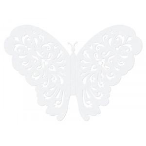 Motylki ozdobne, biały,...