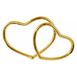 Serca metalizowane, złoty,...
